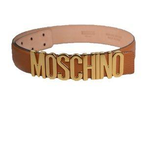 Moschino tan belt
